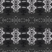 White Cactus Lace on Black