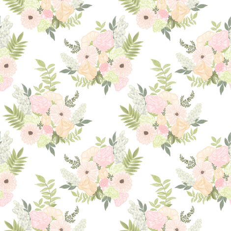 Wildflower bouquet fabric by mintpeony on Spoonflower - custom fabric