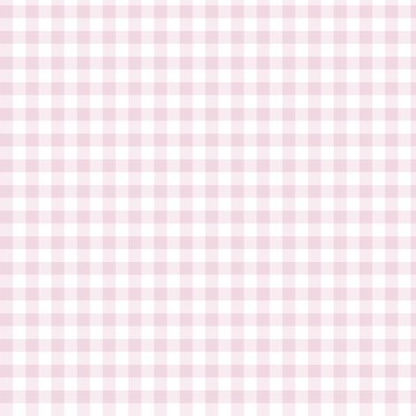 light pink rose gingham fabric by weavingmajor on Spoonflower - custom fabric