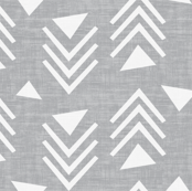 Chevron triangles - Texture Gray