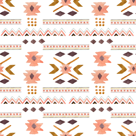 Aztec in Pink fabric by shopcabin on Spoonflower - custom fabric