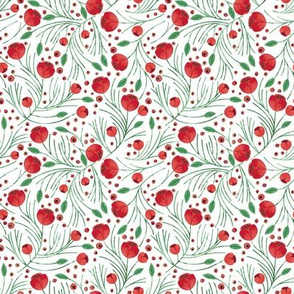 RETIRING 8/1/17 Christmas Floral // Extra Small