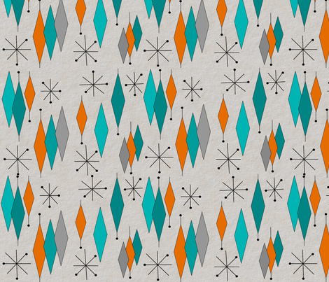 Mid Century Modern Diamond Pattern Fabric Gigirn46 At Aimcom