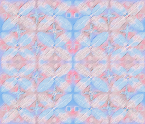 Pink and Blue Geometric fabric by mypetalpress on Spoonflower - custom fabric
