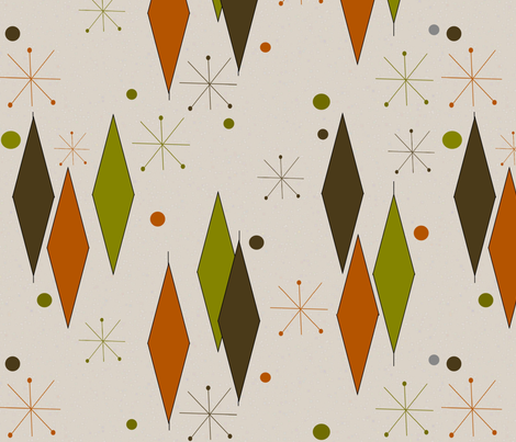 Mid-Century Diamonds fabric by gigirn46@aim_com on Spoonflower - custom fabric