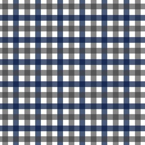 Navy and Charcoal Gingham