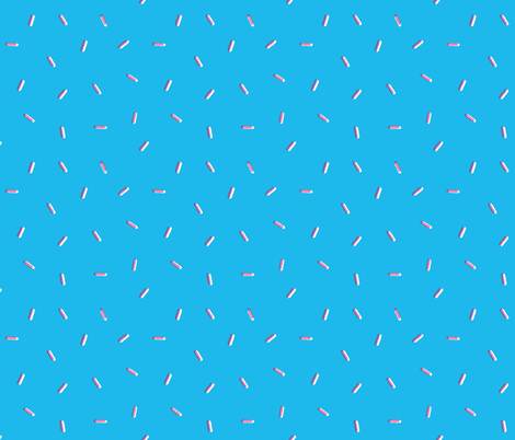 Donut Sprinkles - Blue Berry fabric by tarynosaurus on Spoonflower - custom fabric