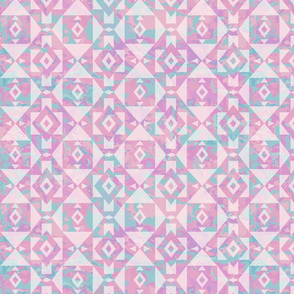 Southwest Geometric - Pink Marbled Background