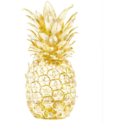 Gold Pineapples on White