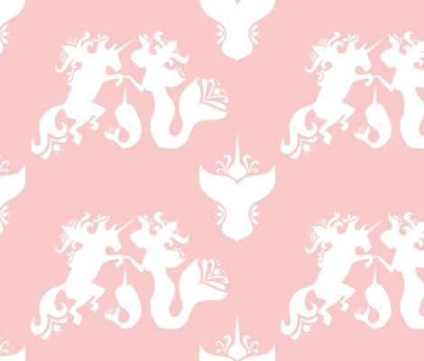 Narwhal Genesis Rose Quartz fabric by jpgmarks on Spoonflower - custom fabric