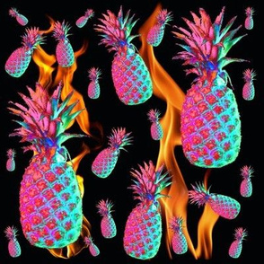 Flaming Funky Pineapples