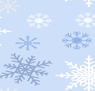 Snowflakes pattern fabric by artpics on Spoonflower - custom fabric