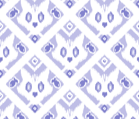 Ikat Cat  fabric by heather_anderson on Spoonflower - custom fabric