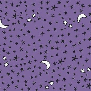 Curses and Spells Stars Black and Purple