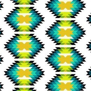 SW HEXagon - teal blue green yellow