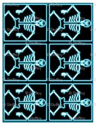 skeleton placemats