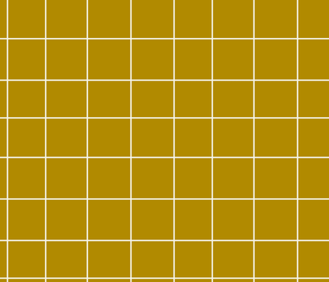 Grid - mustard yellow fabric by sunny_afternoon on Spoonflower - custom fabric