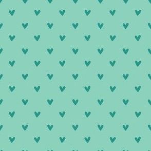 Happy Hearts in Aqua