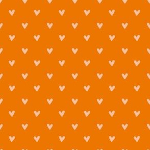 Happy Hearts in Orange
