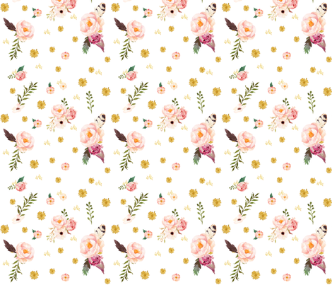 Some Bunny Loves Me Floral fabric by shopcabin on Spoonflower - custom fabric