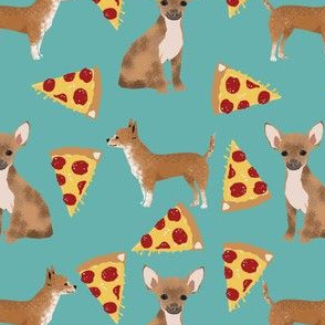 chihuahua dog fabric pizza novelty food print cute dog fabric funny pizza
