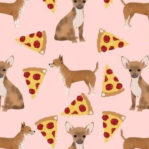 chihuahua dog pizza fabric cute pet dogs pet dogs fabric for pizza lovers