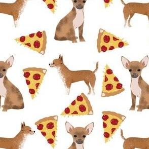chihuahua pizza dog fabric cute novelty print for dog owners pet owners pets cute chihuahua owners fabric