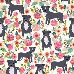 pitbull pitbull terrier fabric pitbulls florals flowers cute dogs rescue dog fabric