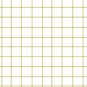 Grid - mustard on white, irregular