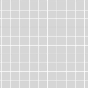 Grid - white on grey by sunny afternoon