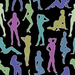 Femmes - Multicolores Rétro // Large