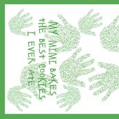 Mimi tea towel green