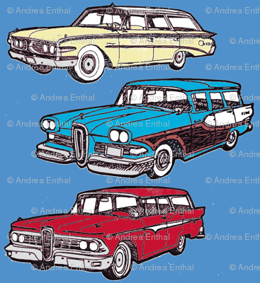 Nifty Fifties Edsel station wagons Villager Bermuda 1958 1959 1960