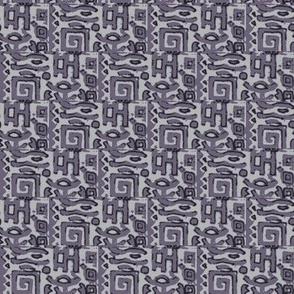greek block print in lavender