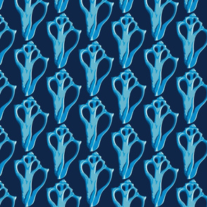 Blue Shell Damask