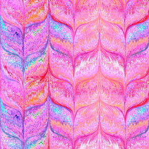Marblelized Paper Pastels