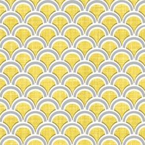 faux linen scallops golden