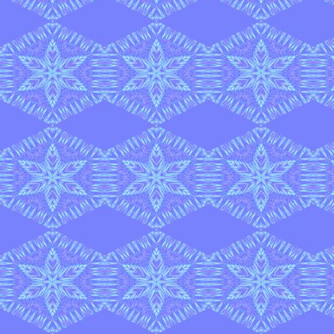 Salted_Starflower_Blue fabric by karwilbedesigns on Spoonflower - custom fabric