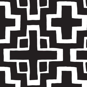 black and white mosaic