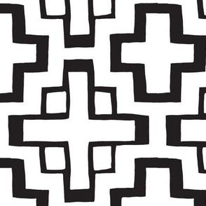 white and black mosaic