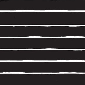 black and white hand drawn stripe