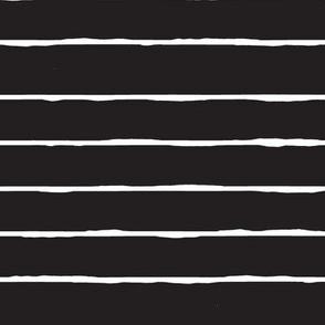 black and white hand drawn stripe