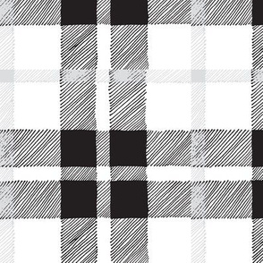 black and white plaid