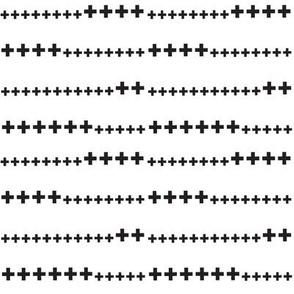 black and white swiss cross