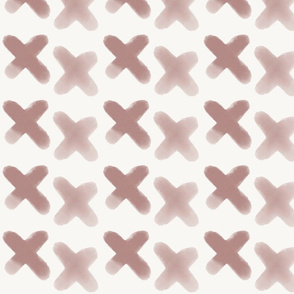 Watercolour crosses - mauve, dusty pink, geometric || by sunny afternoon