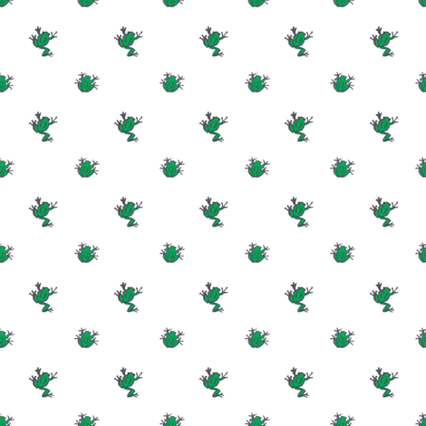 frogs white fabric by meissa on Spoonflower - custom fabric