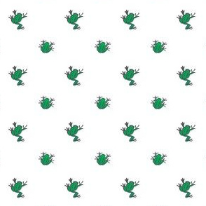 frogs white