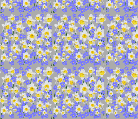 New beginnings and forget me not fabric by floramoon on Spoonflower - custom fabric