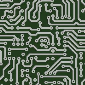 Circuits // Green & Silver