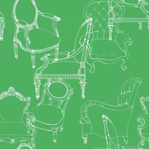 chairgreenspoonflower